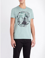 Burberry Wallpaper-print cotton-jersey t-shirt