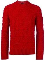 DSQUARED2 raised knit trim jumper