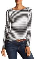 Susina Striped Boatneck Long Sleeve Tee