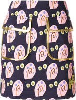 Peter Jensen Gary-print double pocket skirt - women - Cotton - XS