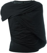 Rick Owens asymmetric sleeved T-shirt - women - Cotton - 40