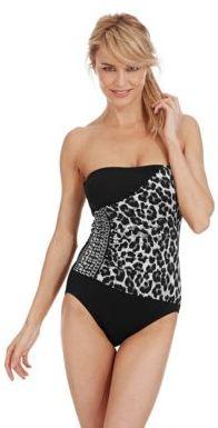 MICHAEL Michael Kors Tunisia Cheetah Bandeau One Piece Swimsuit