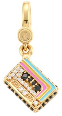 Judith Leiber 14K Goldplated Sterling Silver & Cubic Zirconia Mix Tape Single Charm