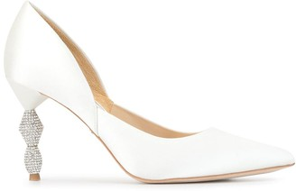 Badgley Mischka Evan satin pumps