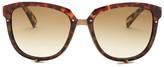 Lanvin Women&s Oversized Brown Sunglasses