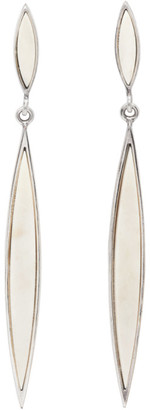 Isabel Marant Silver and Off-White Double Spear Earrings
