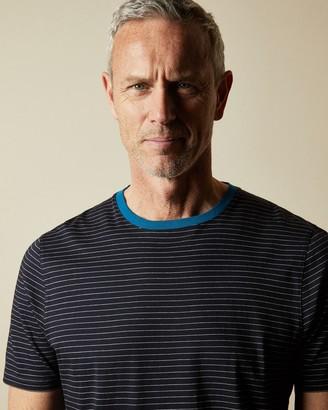 Ted Baker DAYOUTT Tall striped cotton T-shirt