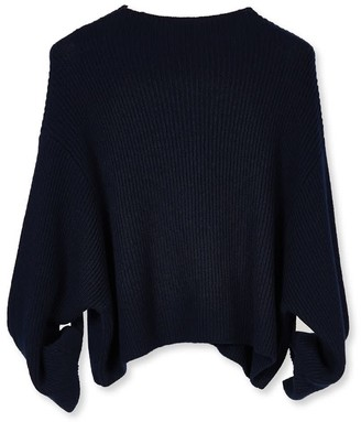 Oyuna Iria Knitted Cashmere Pullover In Navy