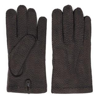 Dalgado Handmade Carpincho Leather Gloves Brown Gianni