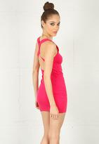 Motel Rocks Coco Dress in Hot Pink -