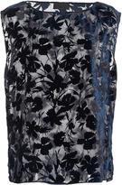 Nili Lotan Vera Velvet Floral Tank