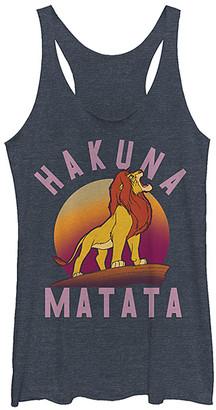 Fifth Sun Women's Tank Tops NAVY - Lion King Heather Navy 'Hakuna Matata' Tank - Women & Juniors