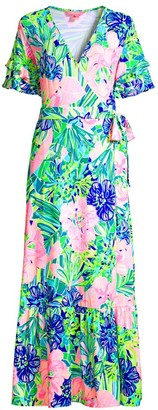 Lilly Pulitzer Emmerson Ruffle Floral Maxi Dress