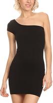 Black One-Shoulder Bandage Dress
