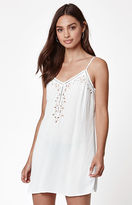 La Hearts Embroidered Shift Dress