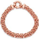 Tiara Rose Gold Plated Sterling Silver Italian Byzantine Bracelet