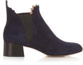 Chloé Lauren scallop-edged suede ankle boots