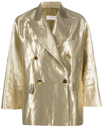 Alberto Biani Metallic Double-Breasted Blazer