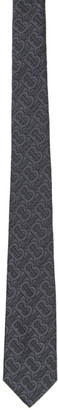 Burberry Grey Manston Monogram Tie