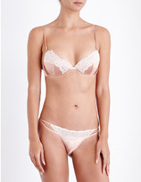 Heidi Klum Intimates Sublime Ribelle satin and stretch-lace balconette bra