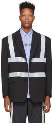 Vetements Black Reflector Tailored Jacket