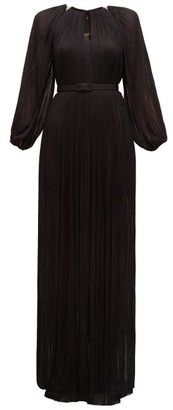 Maria Lucia Hohan Lee Pleated Silk-tulle Maxi Dress - Black