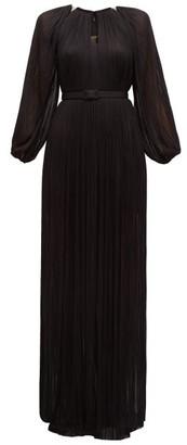 Maria Lucia Hohan Lee Pleated Silk-tulle Maxi Dress - Black