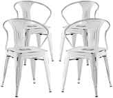 Modway Promenade Steel Dining Chair - Set of Four