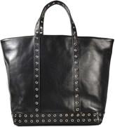Vanessa Bruno Medium + leather tote with eyelets