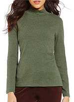 Pendleton Mock Neck Long Sleeve Cotton Top