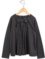 Jacadi Girls' Knit Bow-Accented Top