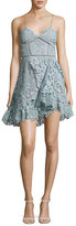 Self-Portrait Paisley Vine Sleeveless Mini Dress, Light Blue
