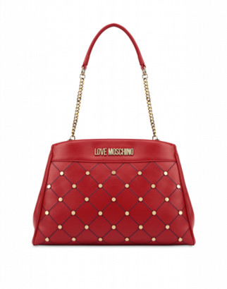 Love Moschino Studded Shoulder Bag Woman Red Size U It - (one Size Us)