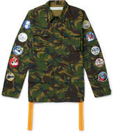 Off-White - Appliquéd Camouflage-Print Cotton-Ripstop Field Jacket