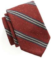 Todd Snyder Striped Wool Silk Tie in Red