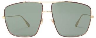 Christian Dior Monsieur Aviator Metal Sunglasses - Womens - Tortoiseshell