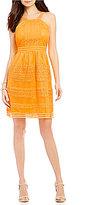 Gianni Bini Honey Apron Neck Novelty Lace Dress