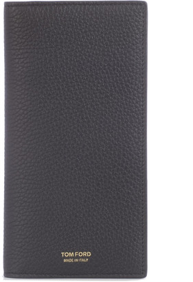 Tom Ford Long Vertical Wallet With Gold Details