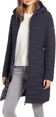 Bernardo Bernado Packable EcoPlume(TM) Hooded Walker Coat