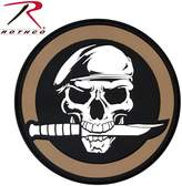Rothco PVC Military Skull & Knife Morale Patch