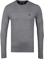 Armani Jeans Light Grey Knitted Crew Neck Sweater