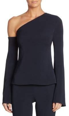 Cushnie et Ochs Colma One-Shoulder Bell-Sleeve Top