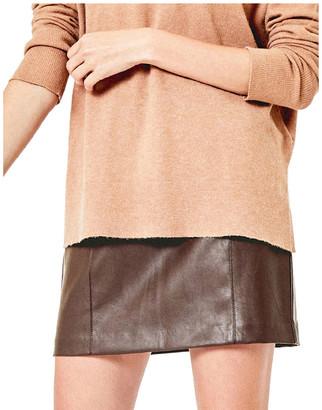 Oasis Faux Leather Seamed Mini Skirt