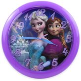 "Disney Frozen"" Wall Clock in Purple"