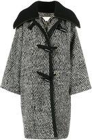 Chloé stripe oversized cocoon coat