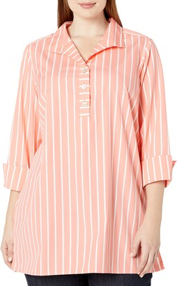 Foxcroft Women's Dani Wide Stripe Non Iron Tunic