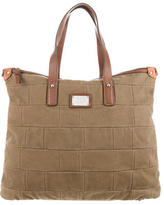 Dolce & Gabbana Leather-Accented Canvas Satchel