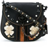 Coach embroidered flower crossbody bag
