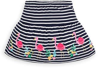 Jo-Jo JoJo Maman Bebe Girls' Casual Skirts Navy - Navy & White Stripe Flamingo Applique Skort - Infant & Toddler
