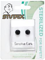 Studex Fireball Jet 6mm Earrings
